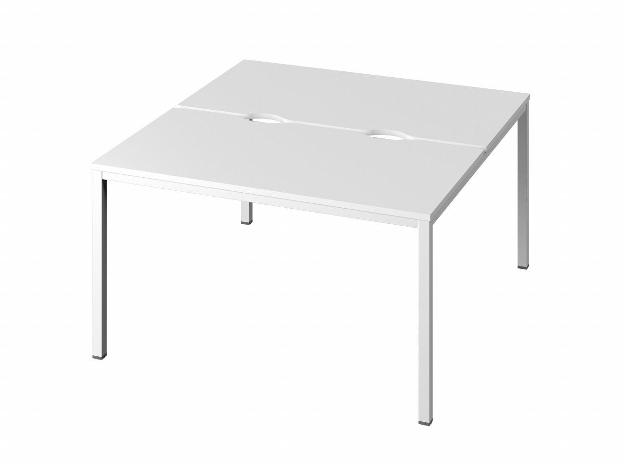 Стол-тандем на металлокаркасе  Public Comfort 135x144x74 - фото 1