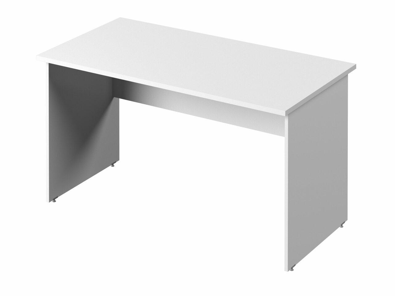 Стол прямой с опорами из ЛДСП  Public Comfort 135x70x74 - фото 1