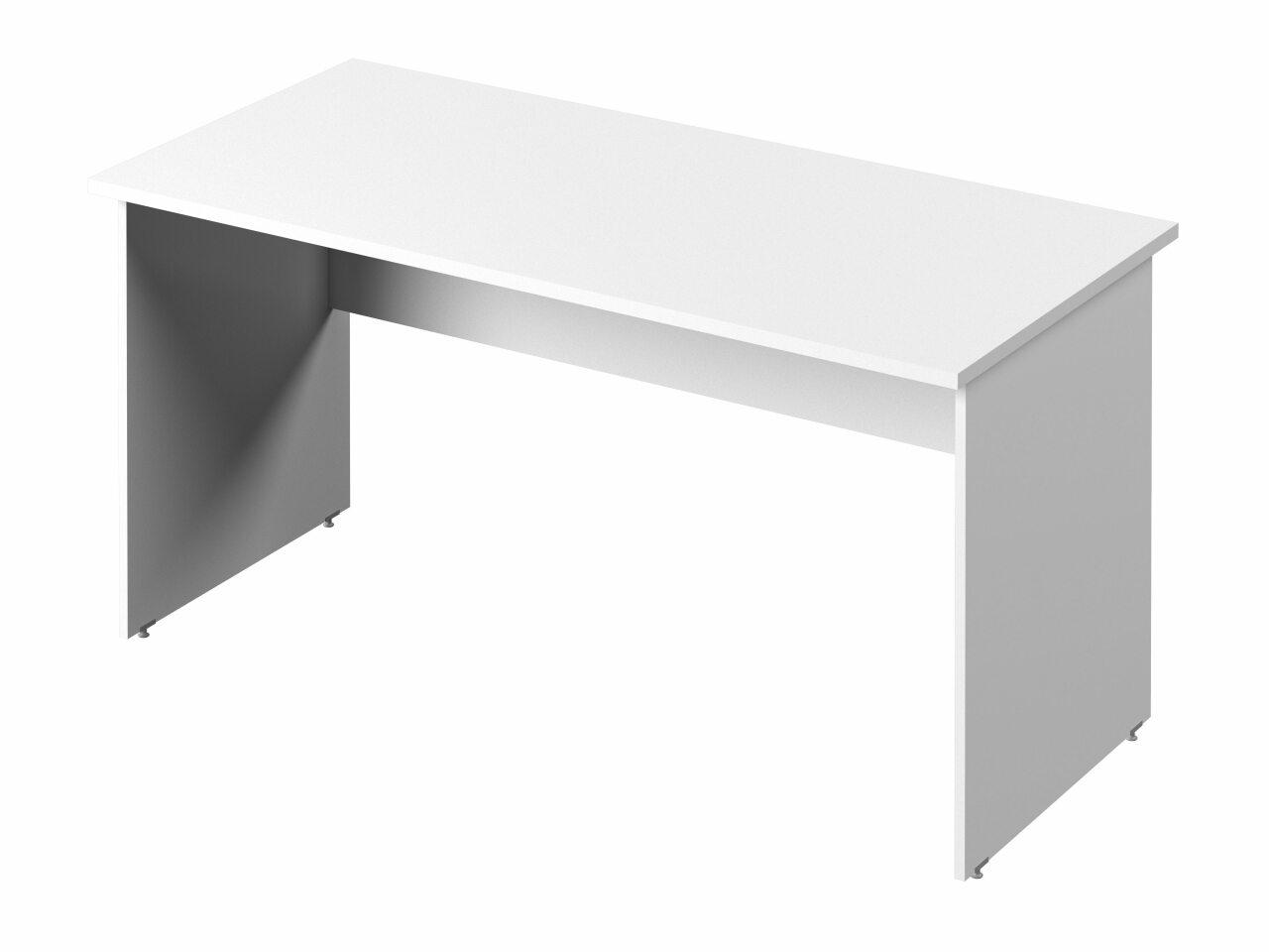 Стол прямой с опорами из ЛДСП - фото 1