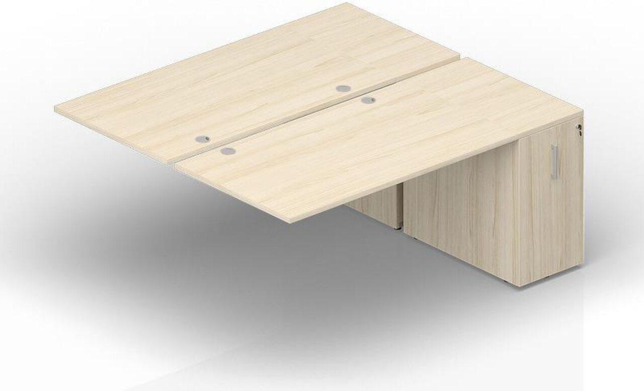 Составной стол на 2 рабочих места с приставными шкафами Tower  Polo 165x140x72 - фото 1