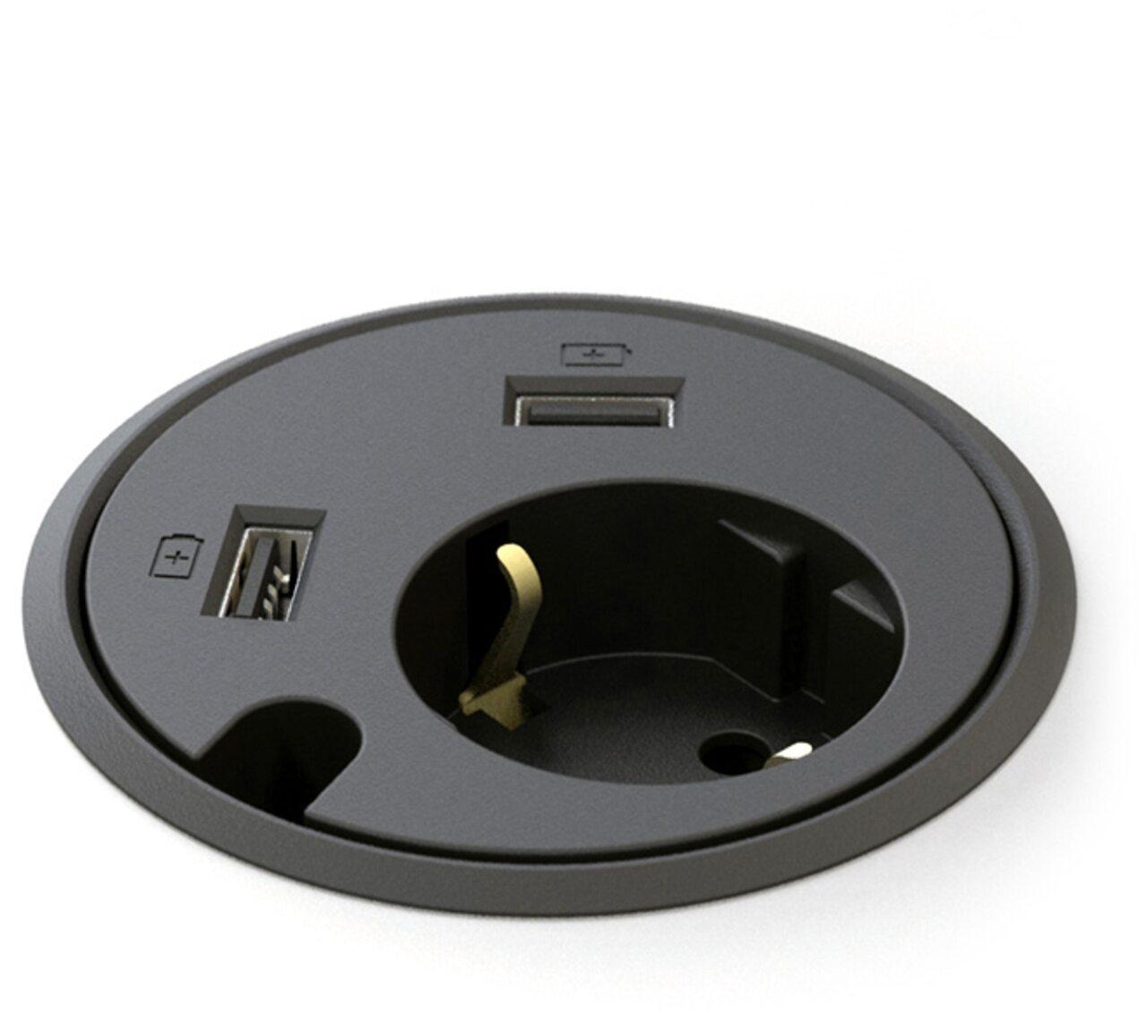 Заглушка Power Dot 1 Power 2 x USB-ch Exe  - фото 1
