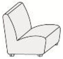 Кресло без п/л со скрытыми опорами