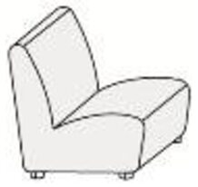 Кресло без п/л с хромированными опорами