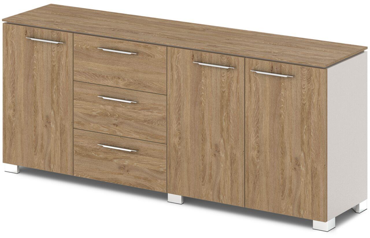 Шкаф низкий комбинированный  Grandeza 192x45x81 - фото 1