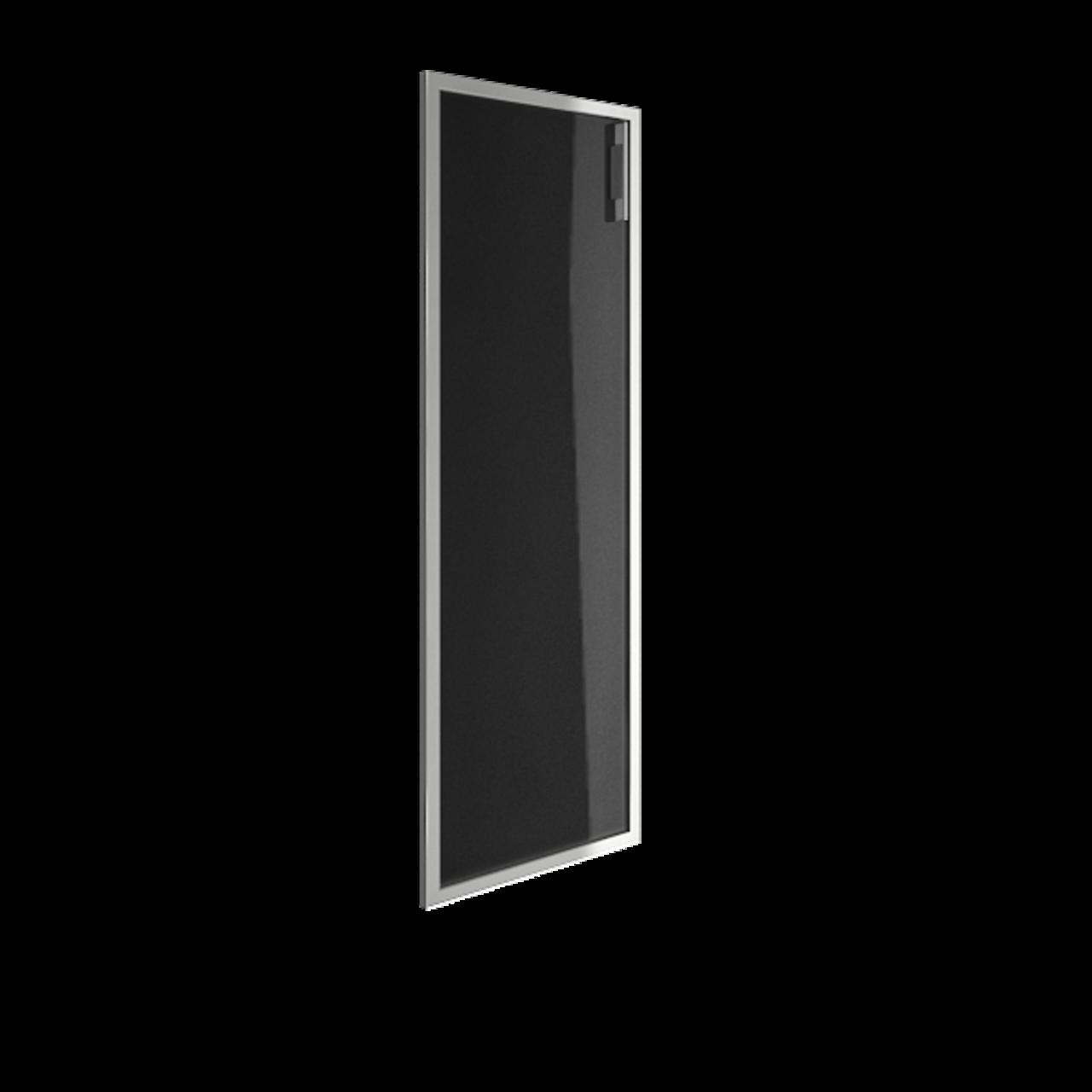 Дверь стекло в раме среднее Lacobel black левая - фото 1
