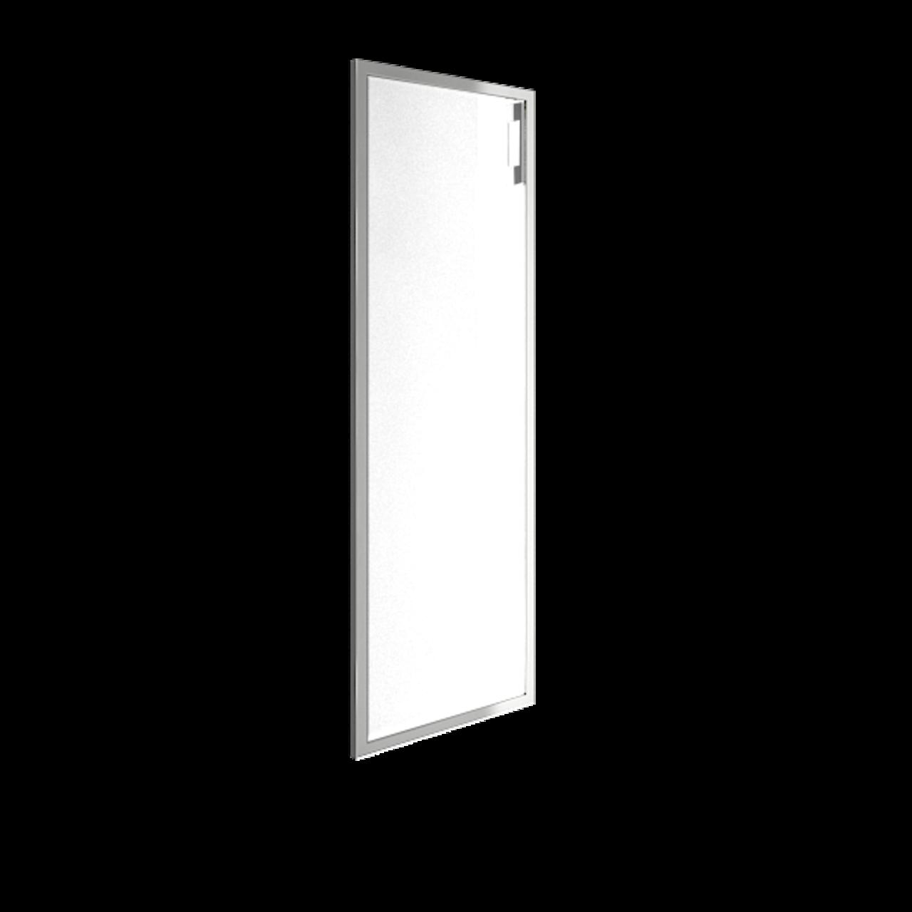 Дверь стекло в раме среднее Lacobel white левая - фото 1