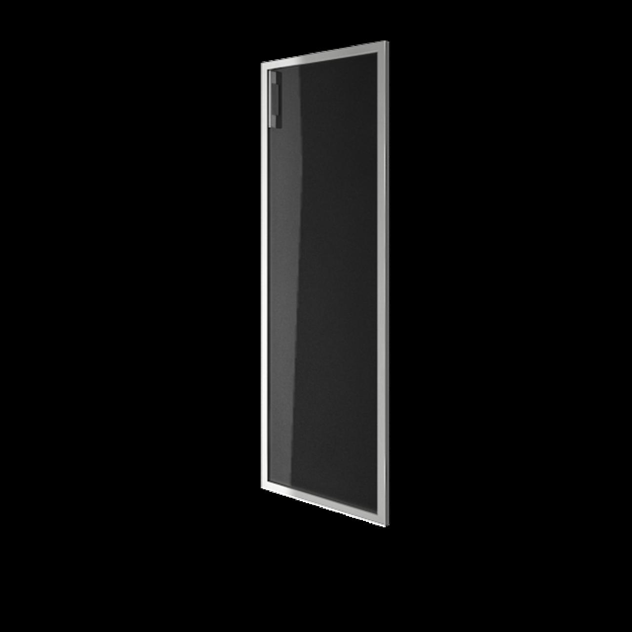 Дверь стекло в раме среднее Lacobel black правая - фото 1