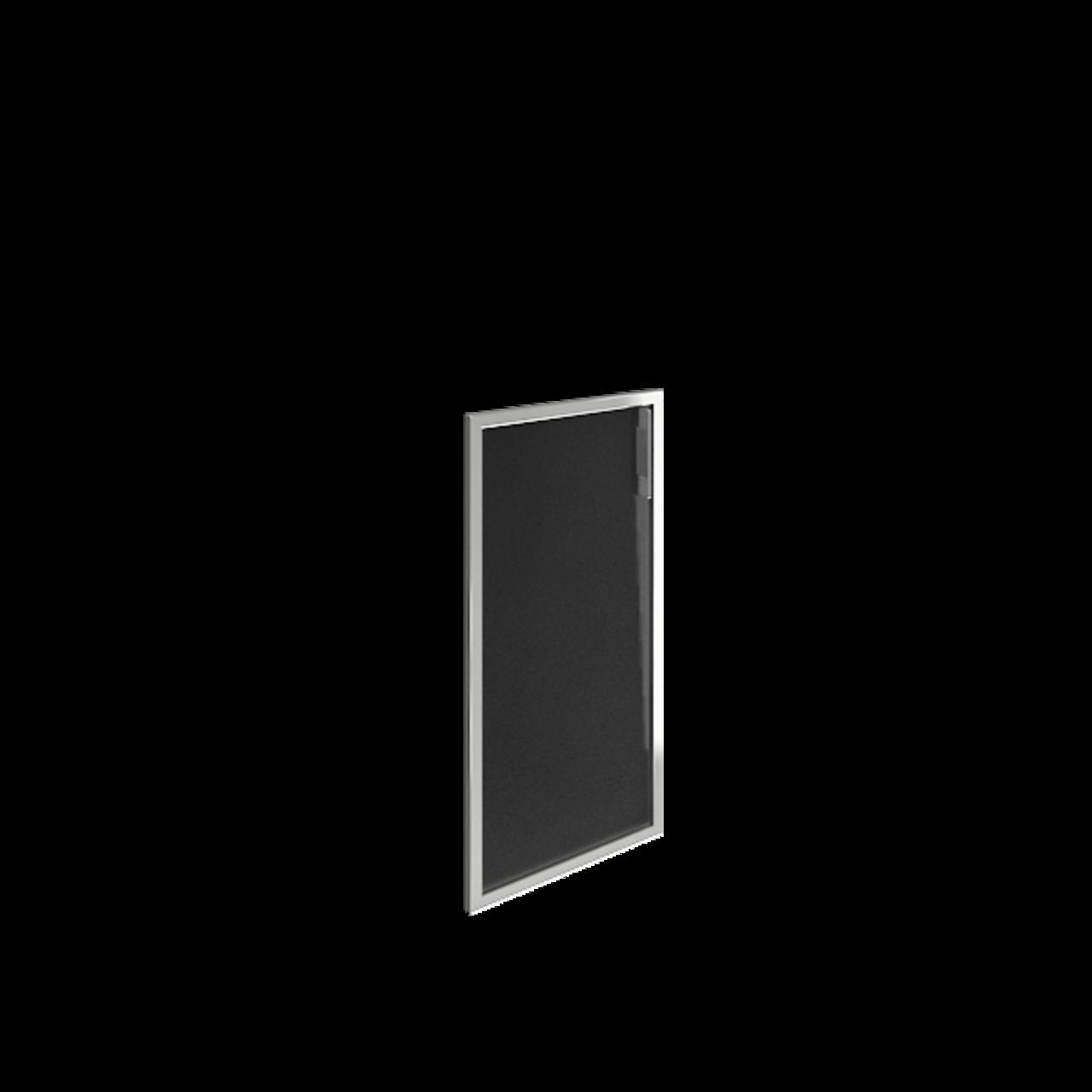Дверь стекло в раме низкое Lacobel black левая - фото 1
