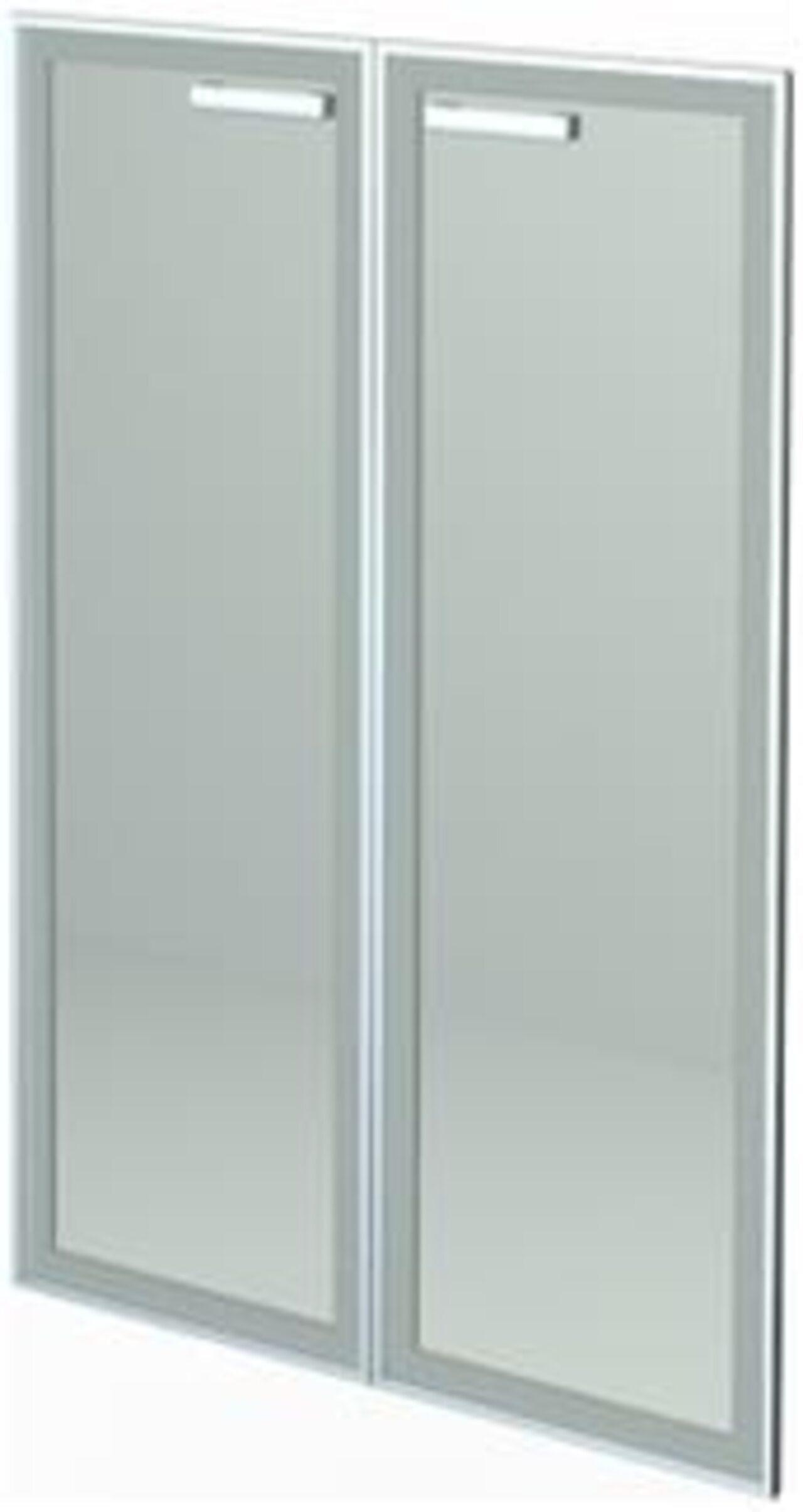 Двери средние стеклянные в алюминиевой раме HT-601.2.СР.Ф сатинат - фото 1