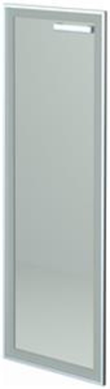 Дверь стеклянная в алюминиевой раме левая HT-601.СР.ЛВ.Ф  Аргентум 39x1x118 - фото 1