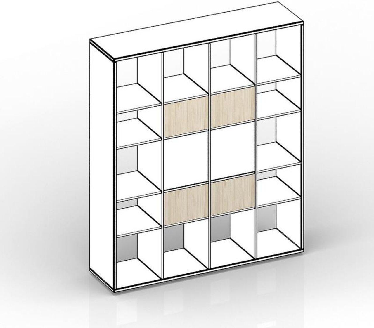 Комплект задних стенок (малых) для стеллажа - 4 штуки  Polo 39x2x25 - фото 1