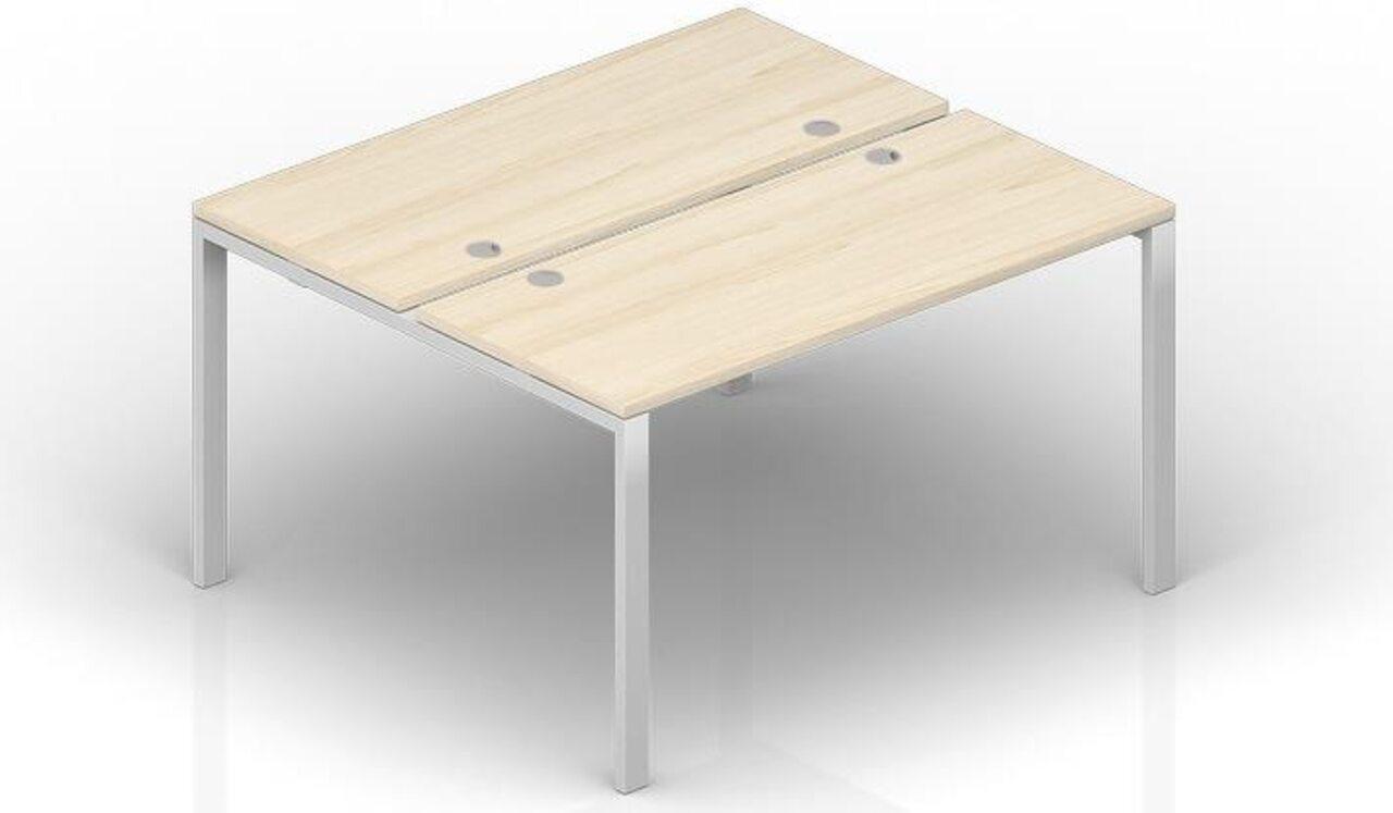 Составной стол на 2 рабочих места  Strike 120x125x72 - фото 1