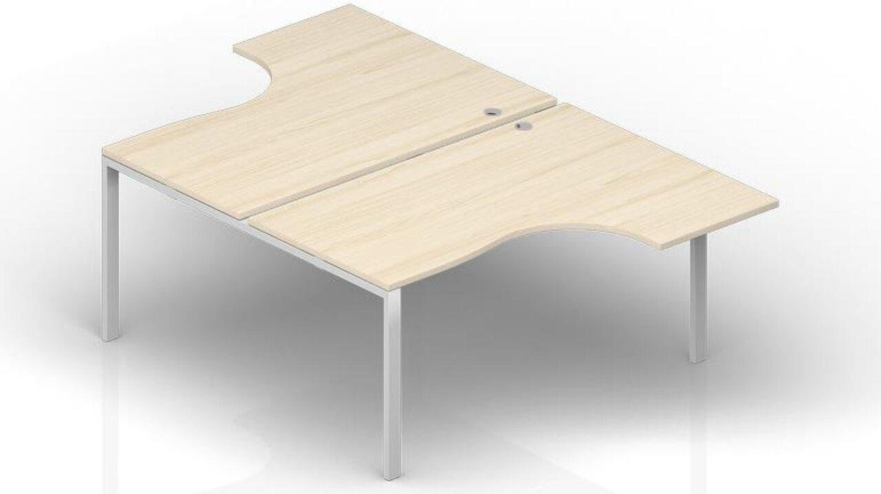Составной стол на 2 рабочих места - фото 1