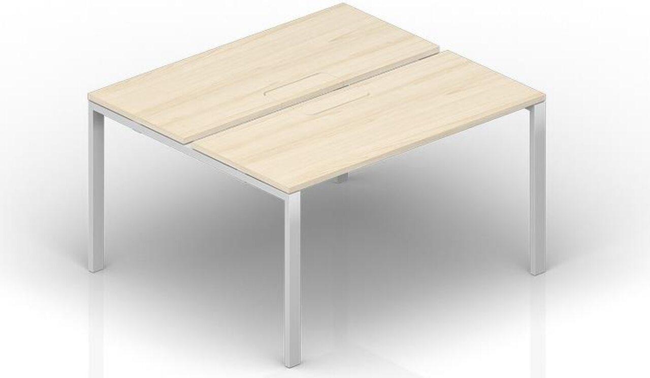 Составной стол на 2 рабочих места  Strike 140x125x72 - фото 1