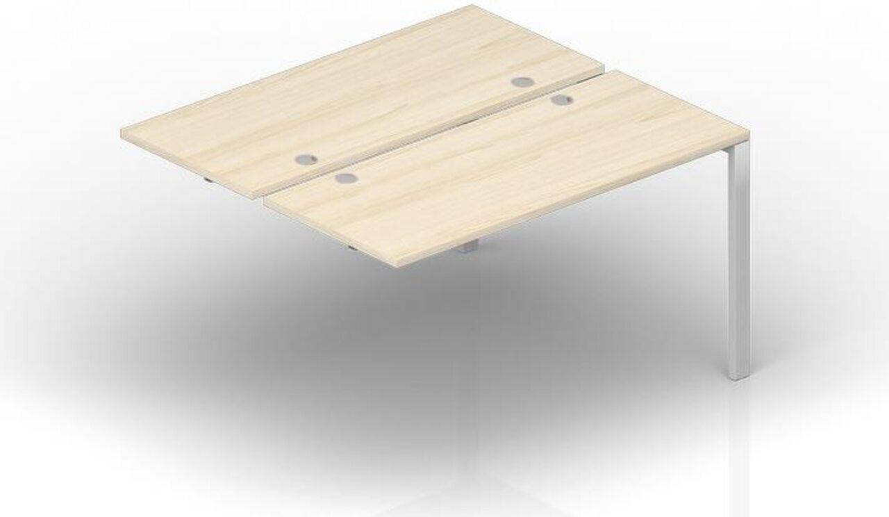 Составной стол на 2 рабочих места - приставной элемент  Strike 125x140x72 - фото 1