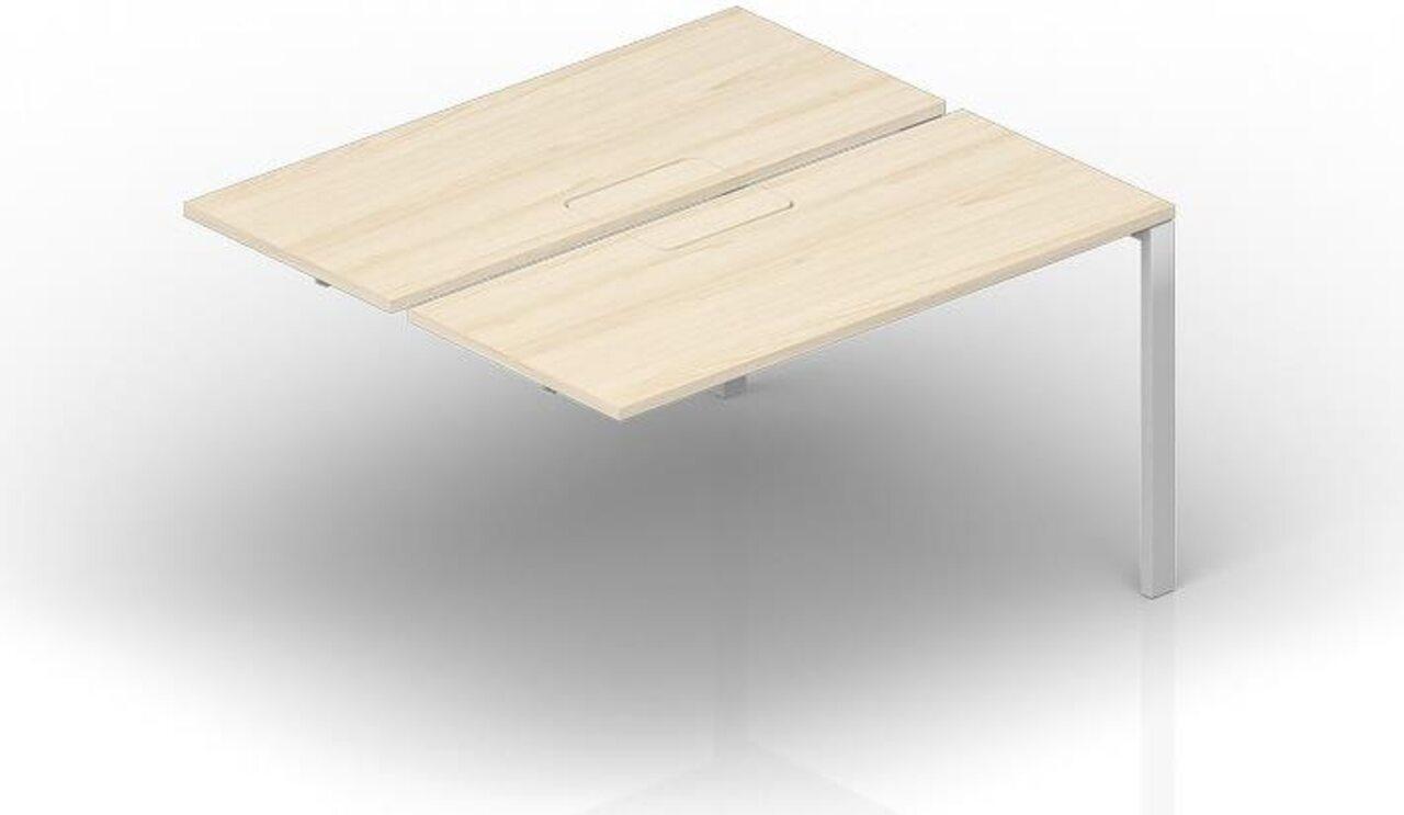 Составной стол на 2 рабочих места - приставной элемент  Strike 125x120x72 - фото 1