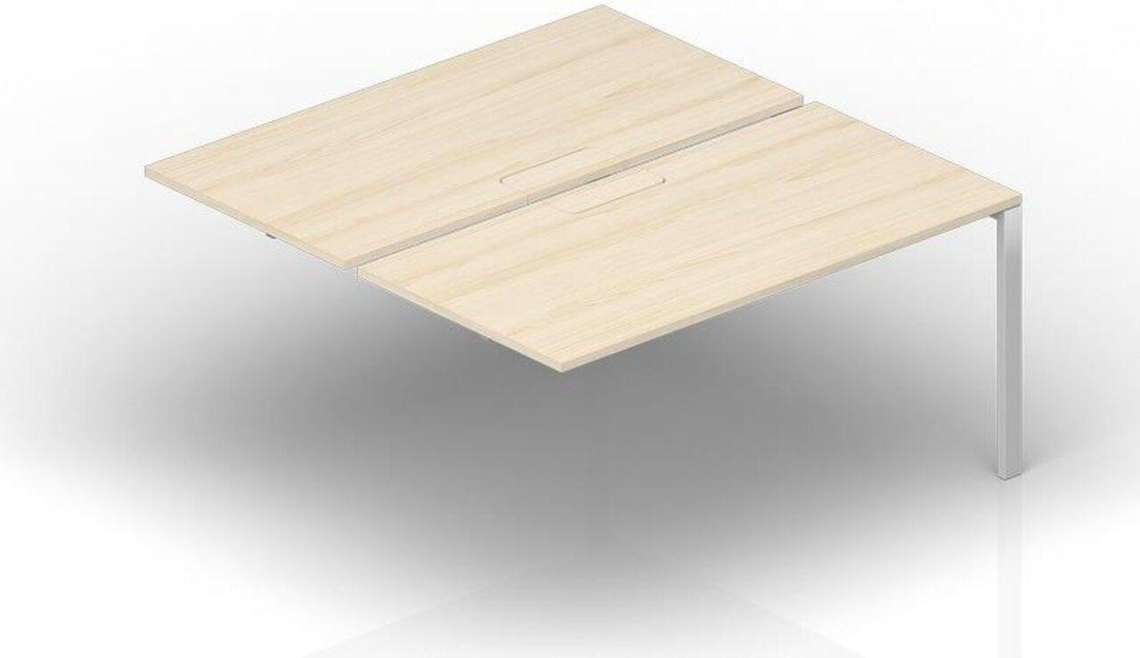 Составной стол на 2 рабочих места - приставной элемент  Strike 120x165x72 - фото 1