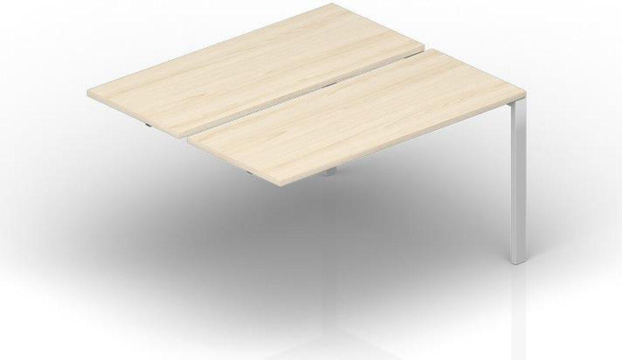 Составной стол на 2 рабочих места - приставной элемент  Strike 120x125x72 - фото 1