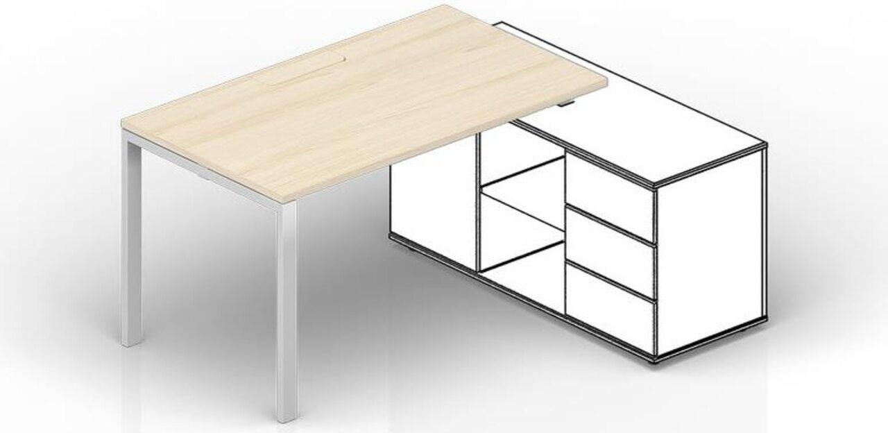 Стол для крепления к сервисной опорной тумбе  Strike 160x80x72 - фото 1