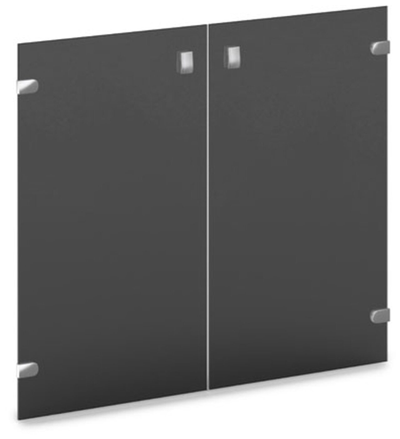 Двери средние стеклянные тонированные  Vasanta 81x1x71 - фото 1