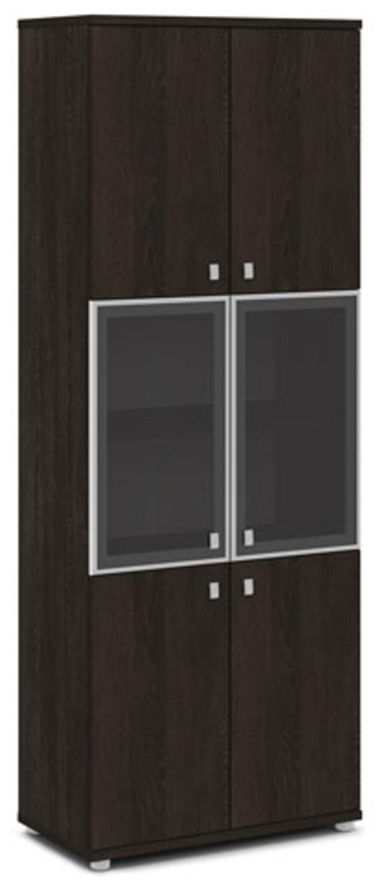 Шкаф со стеклом в алюминиевом профиле  Vasanta 82x44x220 - фото 1