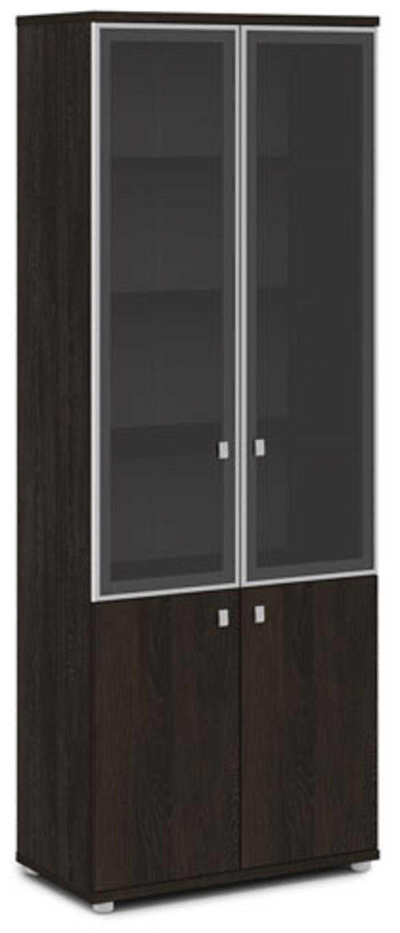 Шкаф со стеклом в алюминиевом профиле - фото 1