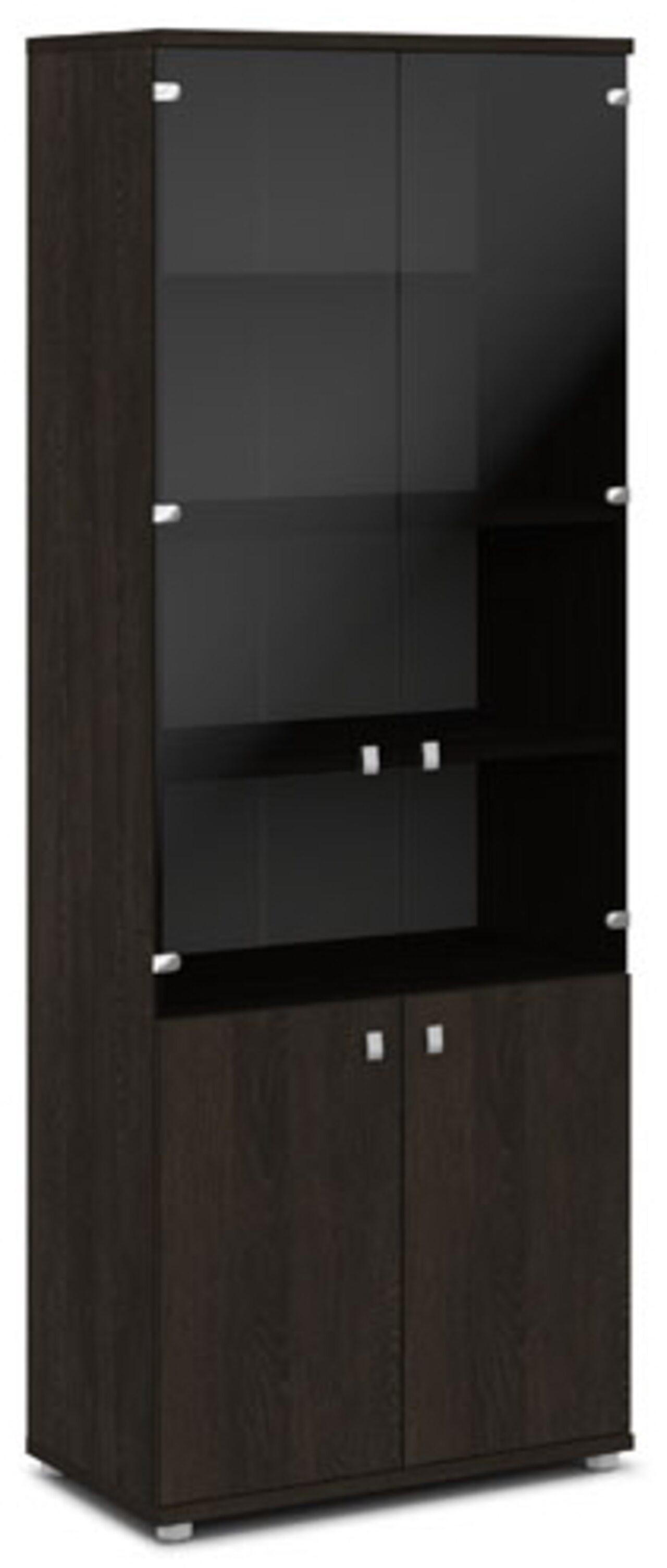 Шкаф со стеклом  Vasanta 82x44x220 - фото 1