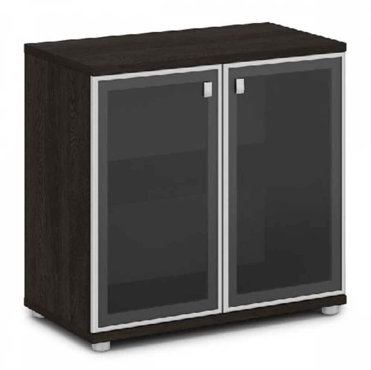 Шкаф со стеклом в алюминиевом профиле  Vasanta 82x44x79 - фото 1