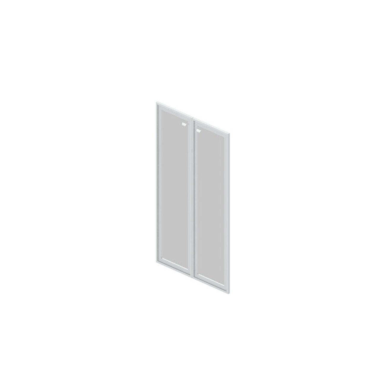 Двери стеклянные в рамке  Gamma (Гамма) 80x2x70 - фото 1