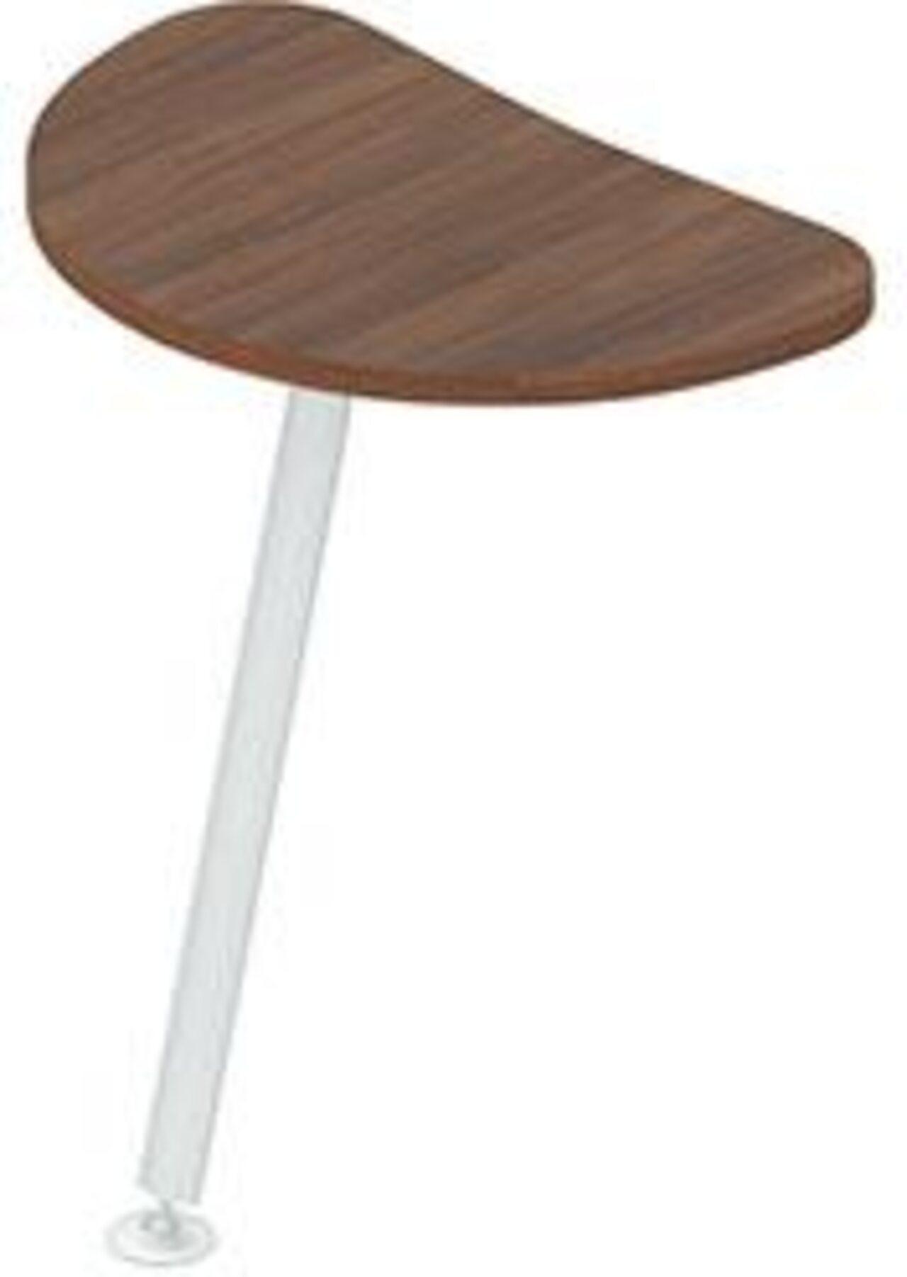 Приставка для криволинейных столов  Gamma (Гамма) 44x69x3 - фото 1