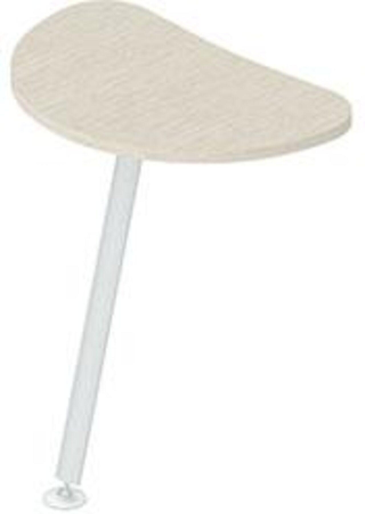 Приставка для криволинейных столов  Gamma (Гамма) 44x69x3 - фото 3