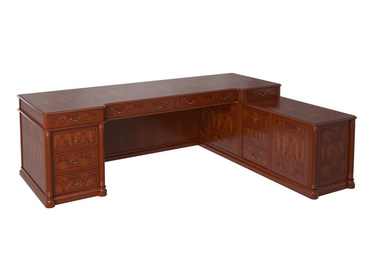 Стол руководителя с 10 яш. 2500 правый  ART & MOBLE 250x190x78 - фото 1