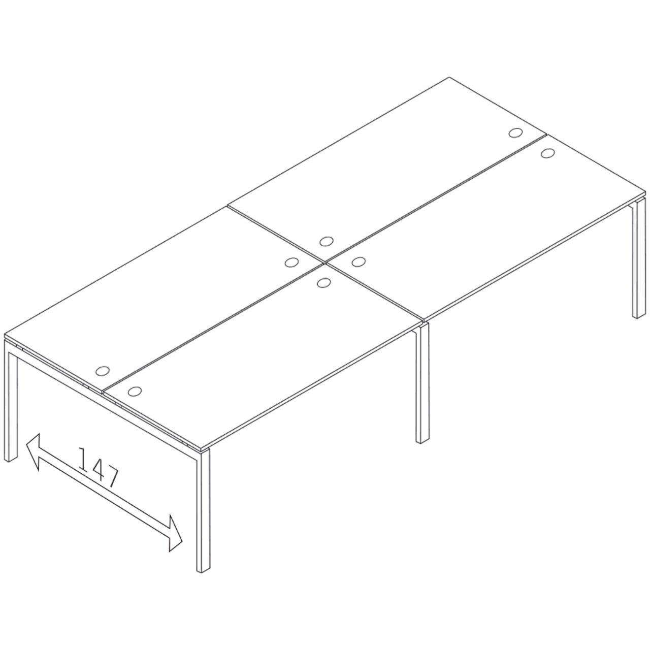 Бенч-система на 4 места  TREND 280x148x75 - фото 1
