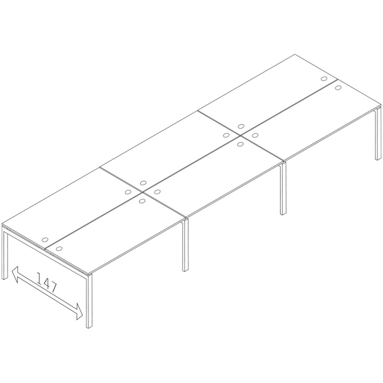 Бенч-система на 6 мест  TREND 420x148x75 - фото 1
