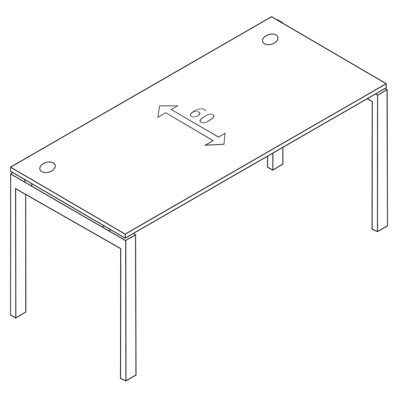 Стол письменный на металлоопорах  TREND 60x160x75 - фото 1