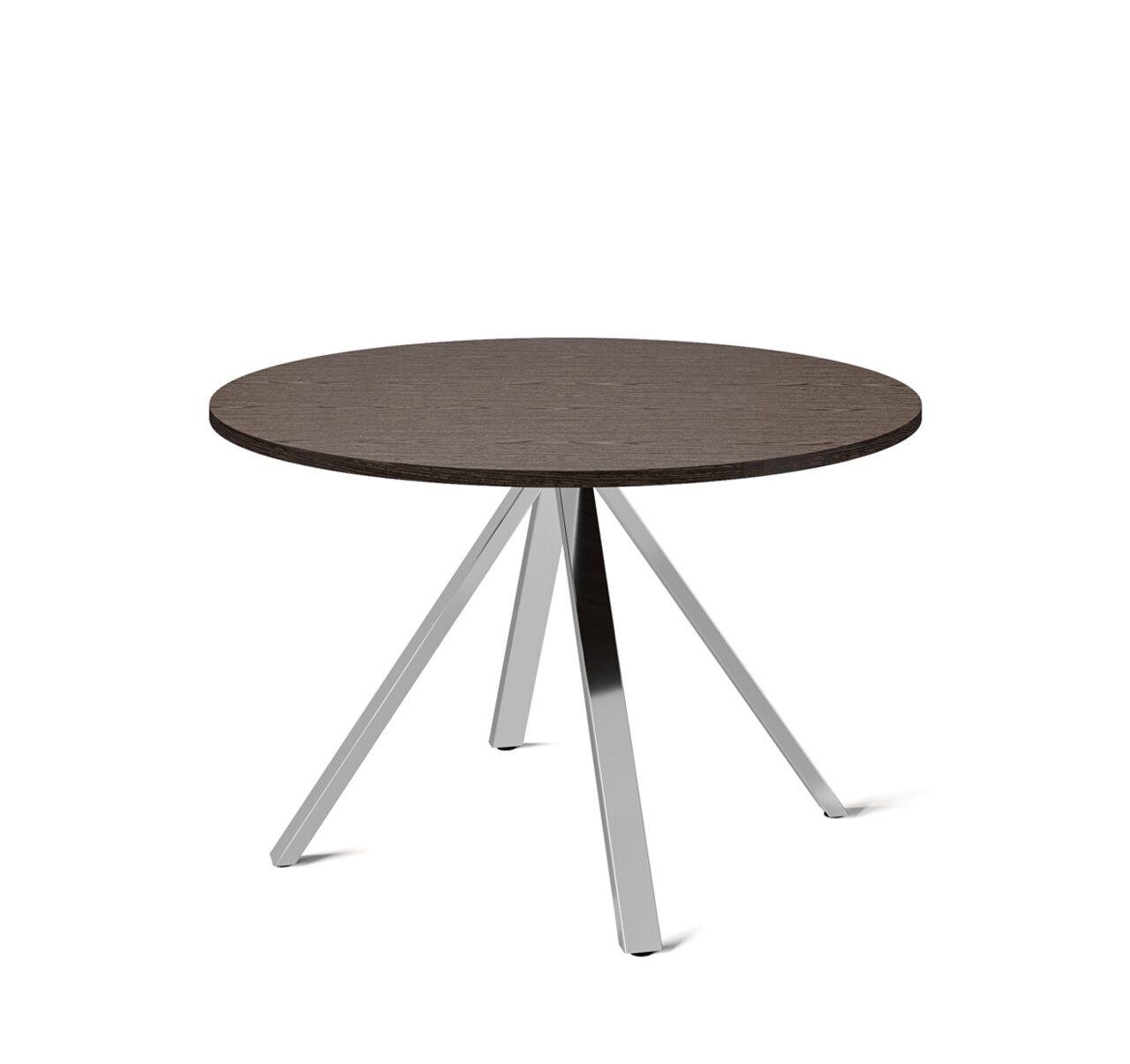 EXE Стол для переговоров круглый (хром) Exe 120x120x74 - фото 1