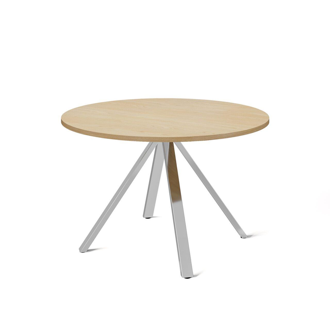 EXE Стол для переговоров круглый (хром) Exe 120x120x74 - фото 3