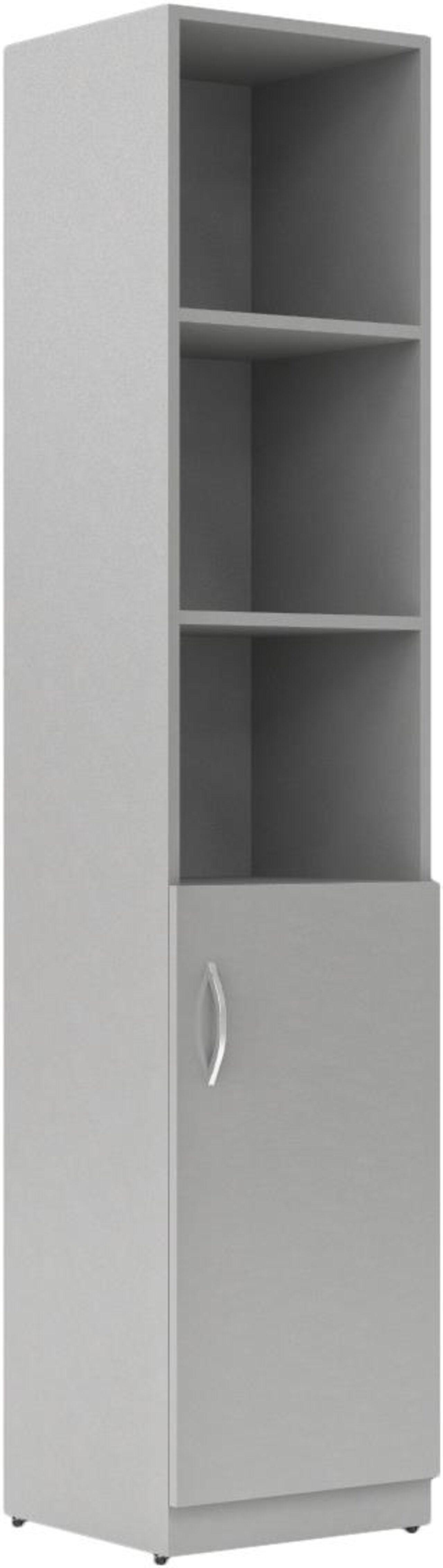 Шкаф пенал комбинированный правый  Simple 38x39x182 - фото 5