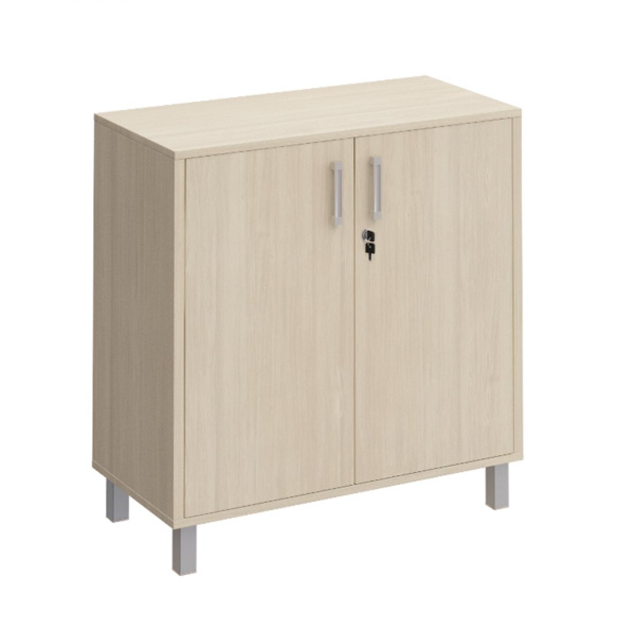 Шкаф для документов две глухие двери с замком  БОРН LT 90x45x94 - фото 1