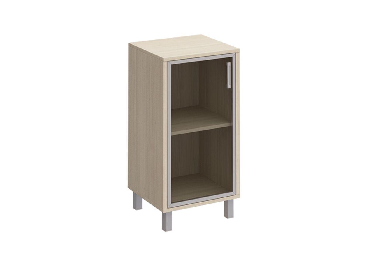 Шкаф для документов левый, дверь в алюминиевой раме  БОРН LT 48x45x94 - фото 1