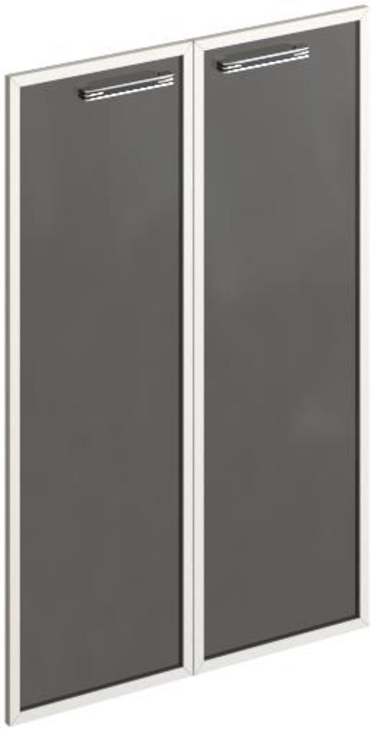 Комплект средних стеклянных дверей  Дельта 73x2x115 - фото 1