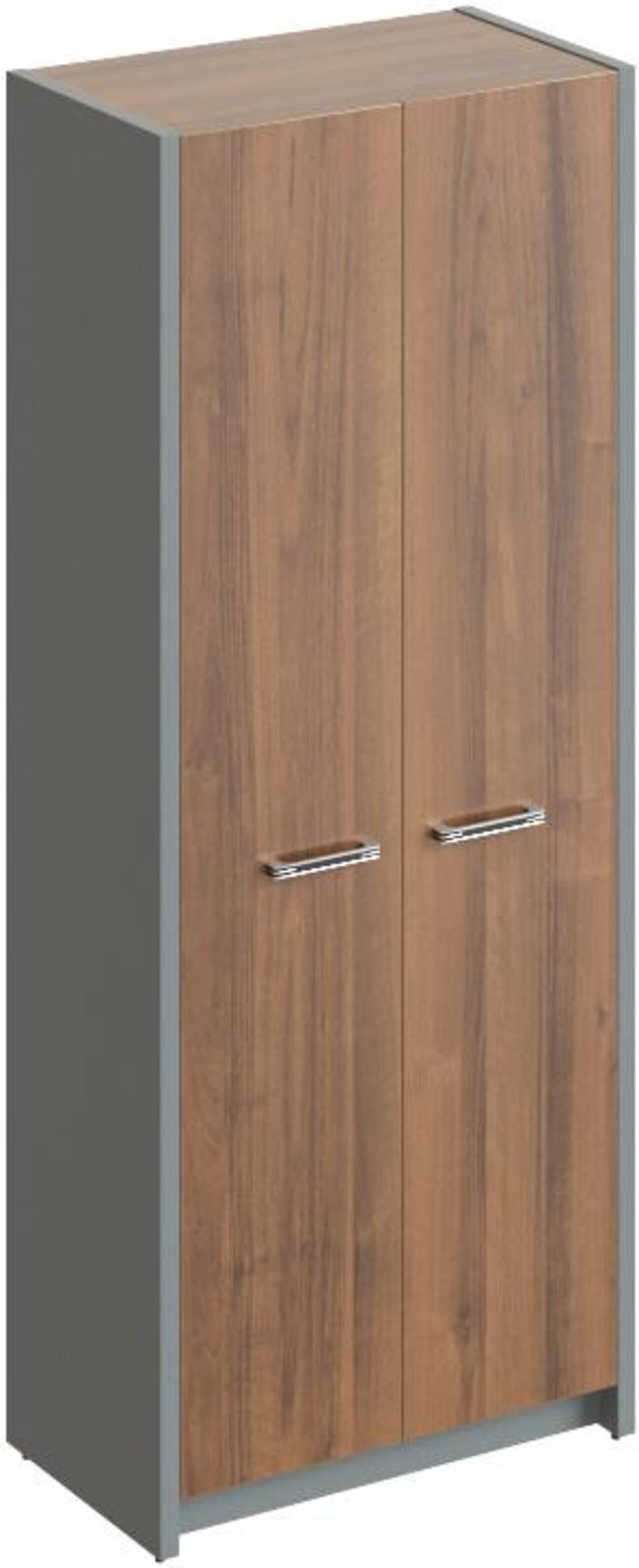 Шкаф для одежды с выдвижной штангой  Дельта 80x45x200 - фото 3