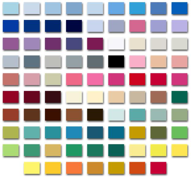 ЛДСП (цветовая палитра)