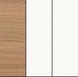 Орех ногаро/белый премиум/белый премиум